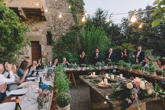 Decoração de casamento na Itália