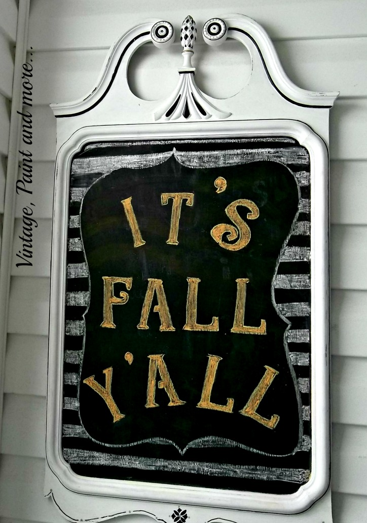 Vintage, Paint and more... Fall chalk board design