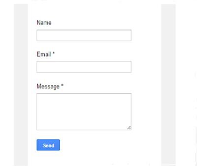 How to add contact form widget on blogger
