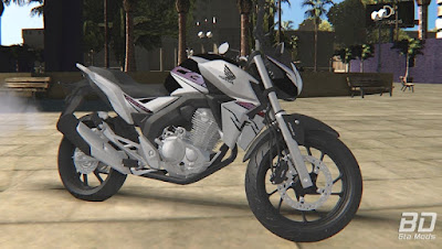 Download mod moto naked CB 250 Twister 2019 para o jogo GTA San Andreas PC.