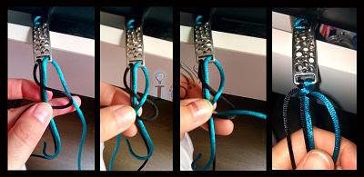 Primer-nudo-pulsera-bicolor-macramé-Ideadoamano