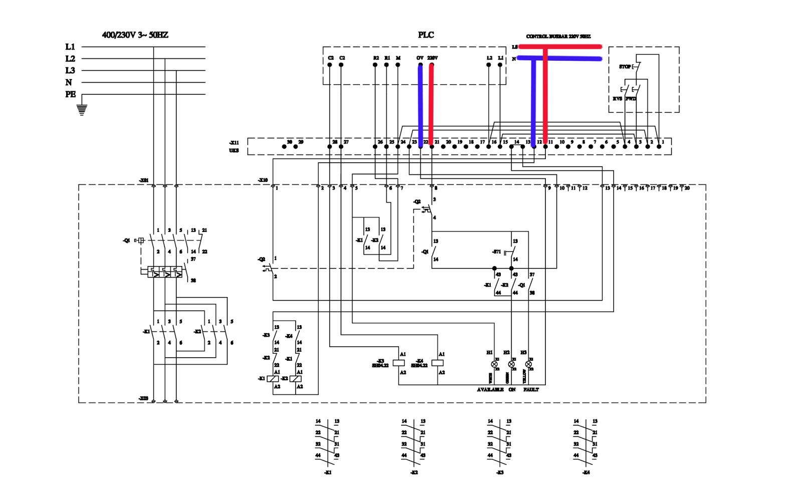 wiring diagram plc zelio