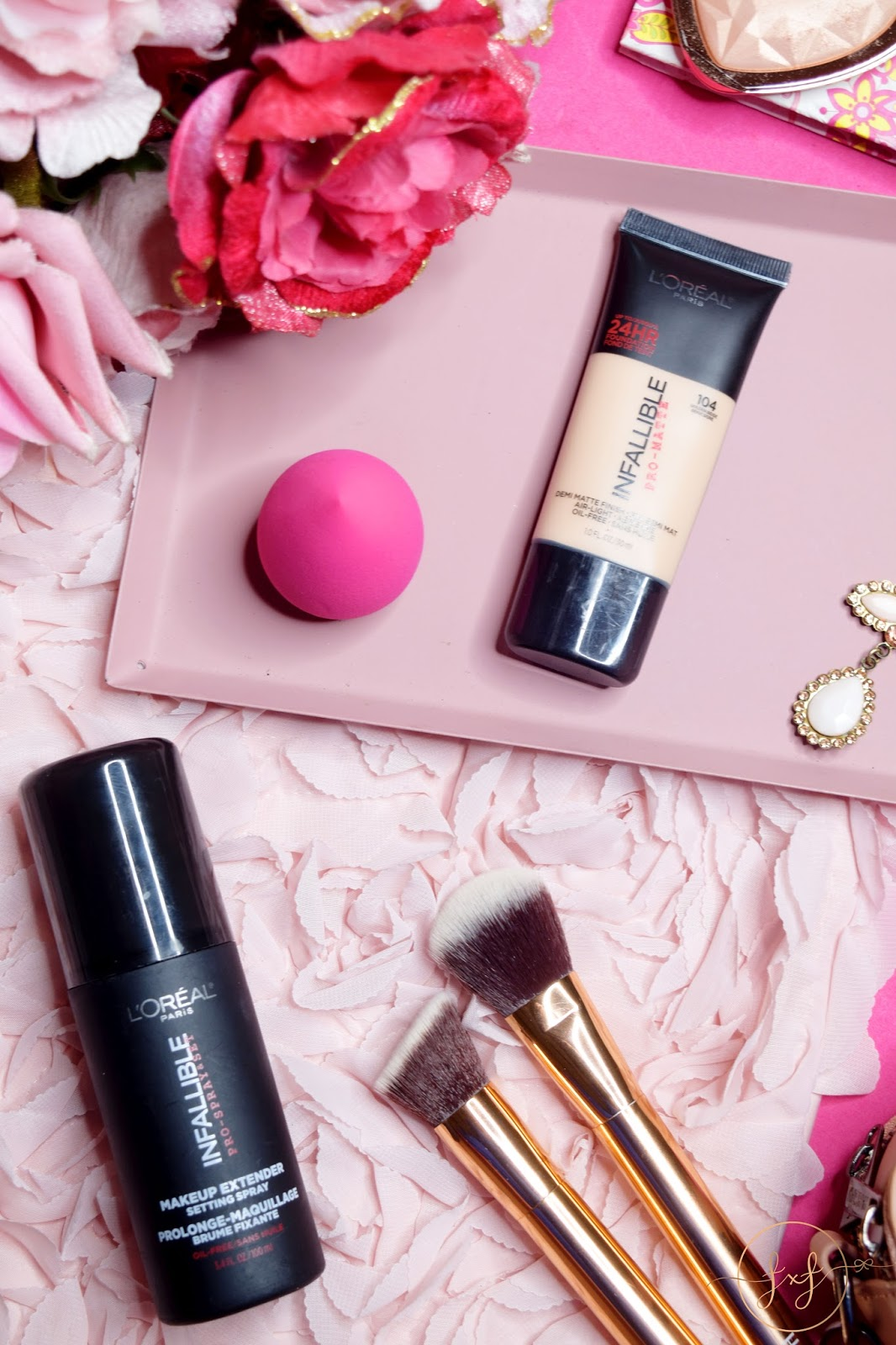 L'oreal Infallible Pro-Matte Foundation & Setting Spray | Review & Swatches