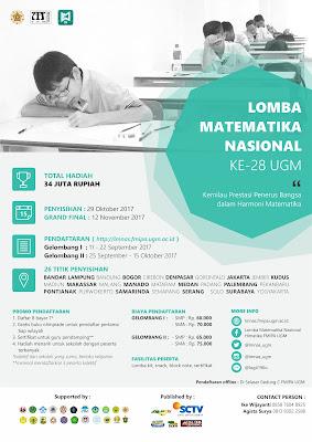 Lomba Matematika Nasional Ke-28 UGM