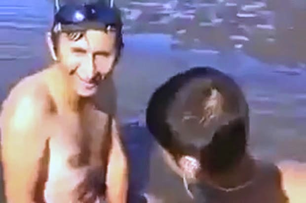 man having sex with a fish