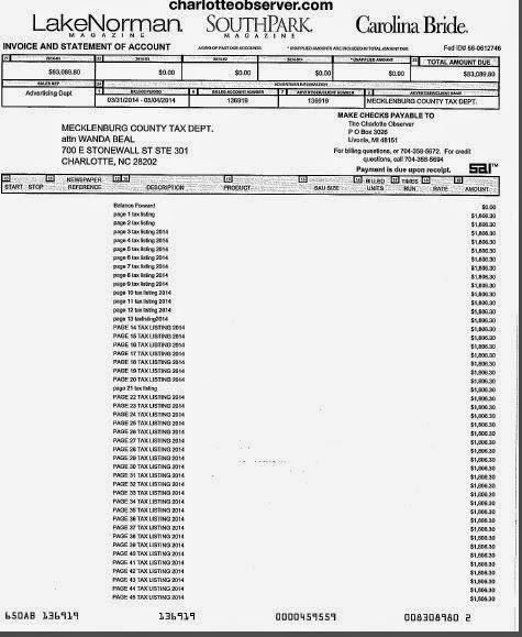 TRIADWATCH: Charlotte Observer 2014 Tax Delinquency Bill