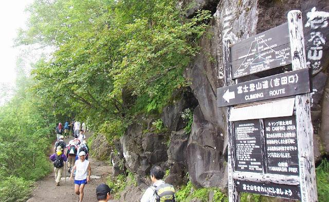 Climbing Route on Mt. Fuji