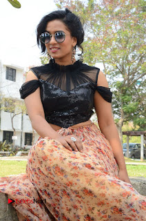 Actress Chetana Uttej Stills in Floral Long Skirt at Pichiga Nachav Movie Press Meet  0071.JPG