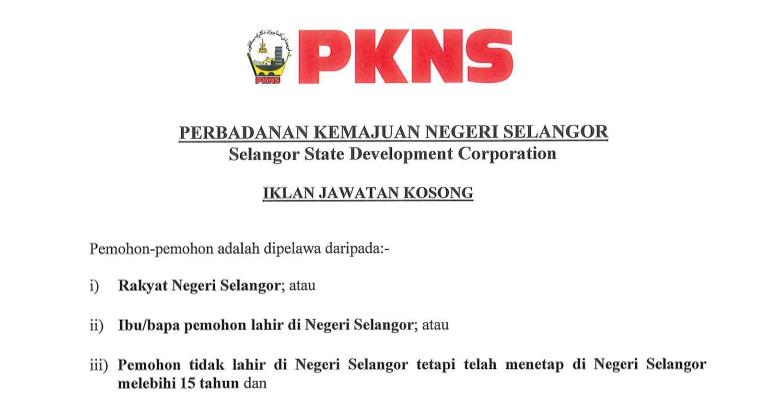 Jawatan Kosong di Perbadanan Kemajuan Negeri Selangor PKNS