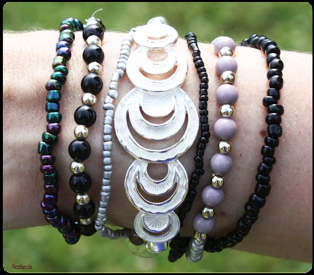 bracelet demi lune et perles de Félicia box