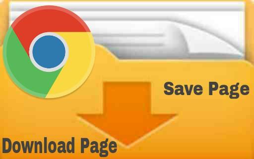 Save page dan Download page di Chrome