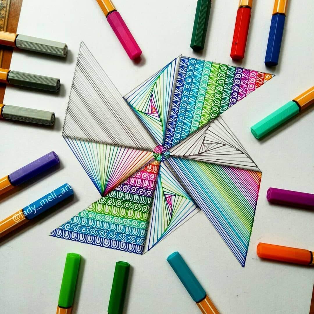13-Origami-lady-meli-art-Precision-in-Geometric-Mandala-Drawings-www-designstack-co