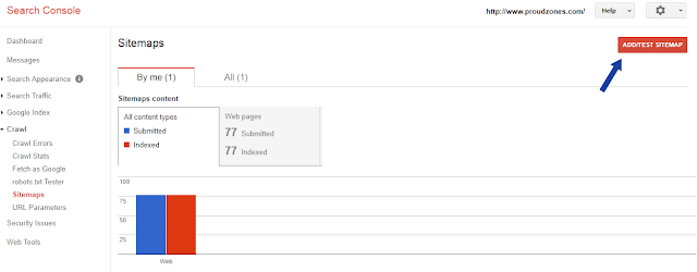 submit sitemap to search console