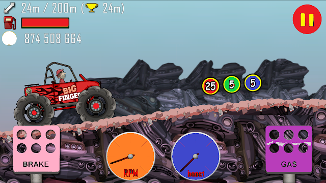 Hill climb racing mod apk unlimited fuel and money and gems