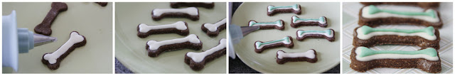 Decorating homemade dog treats with hard set icing, step-by-step