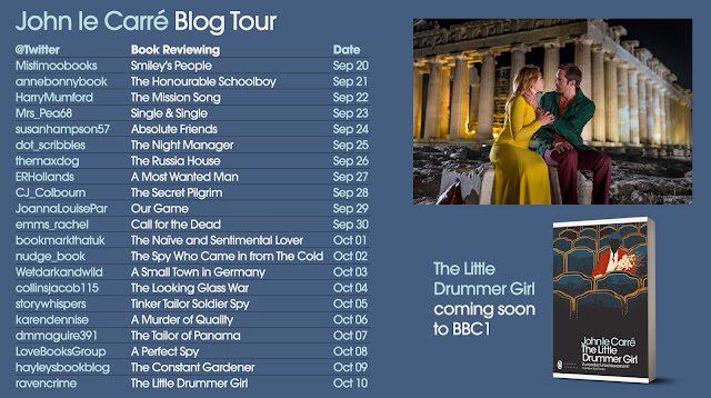 John le Carre book blog tour graphic