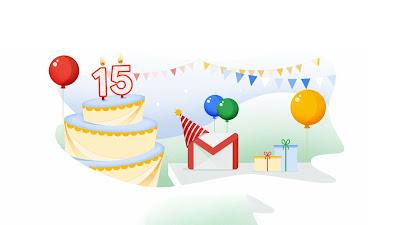 Gmail 15th Birthday