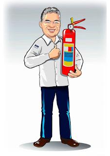 mascotes para lojas de extintores