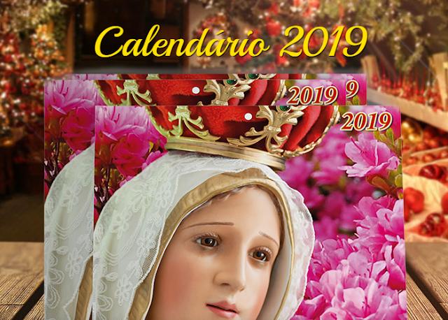 Calendário 2019 Nossa Senhora de Fátima Grátis