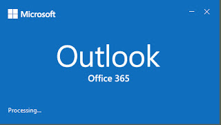 Outlook 365 start screen and logo