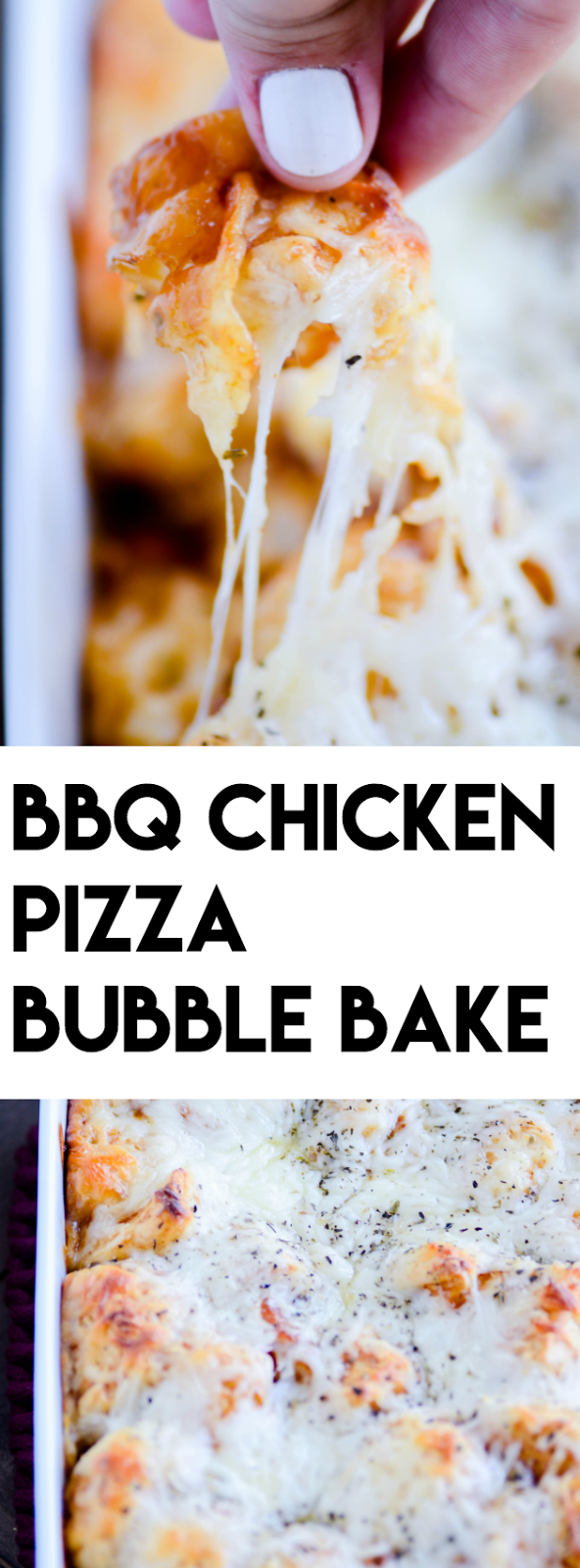 BBQ Chicken Bubble Bake is a quick and inexpensive weeknight dinner that the whole family will love!