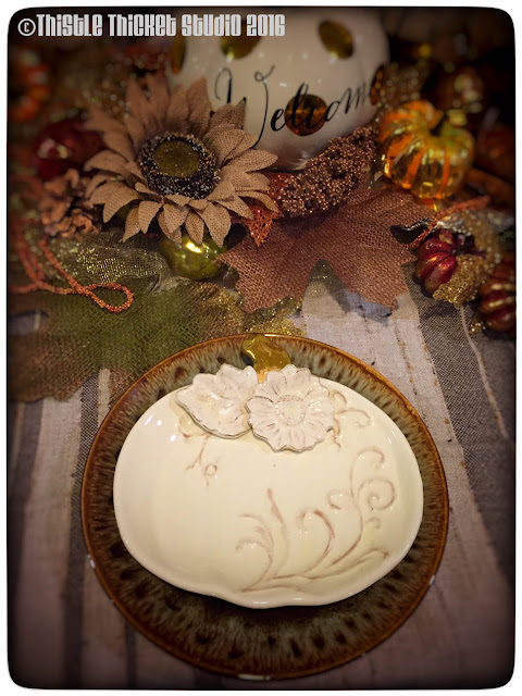 Thistle Thicket Studio, fall decor, fall tablescape, brown drip dishes, Canonsburg pottery, ironstone