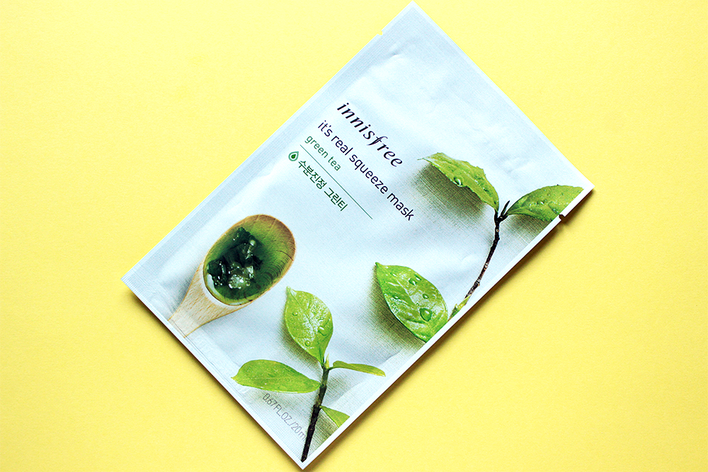 Innisfree It's Real Squeeze Mask Green Tea review