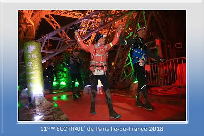 Arrivée, ecotrail Paris 80km