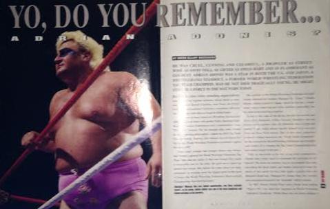 WWE - WWF RAW MAGAZINE 1997: Adrian Adonis profile