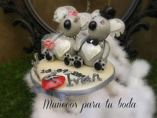 muñecos para tarta nupcial, muñecos de porcelana boda