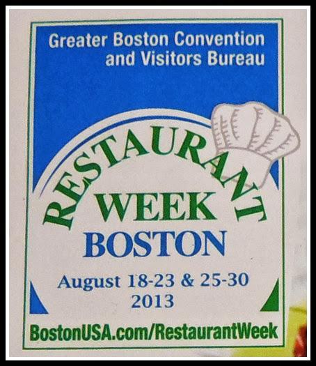 Foto del Logo de la Restaurant Week Boston del brochure que me entregaron