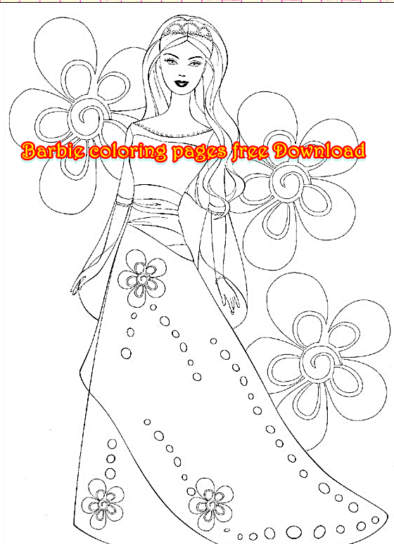 Barbie Coloring Pages Free Download : Barbie coloring pages free download page