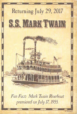 S S Mark Twain Return Trading Card
