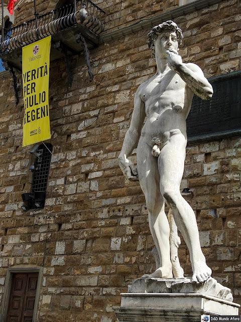 Estátua do Davi de Michelangelo - Diário de bordo: 2 dias em Florença