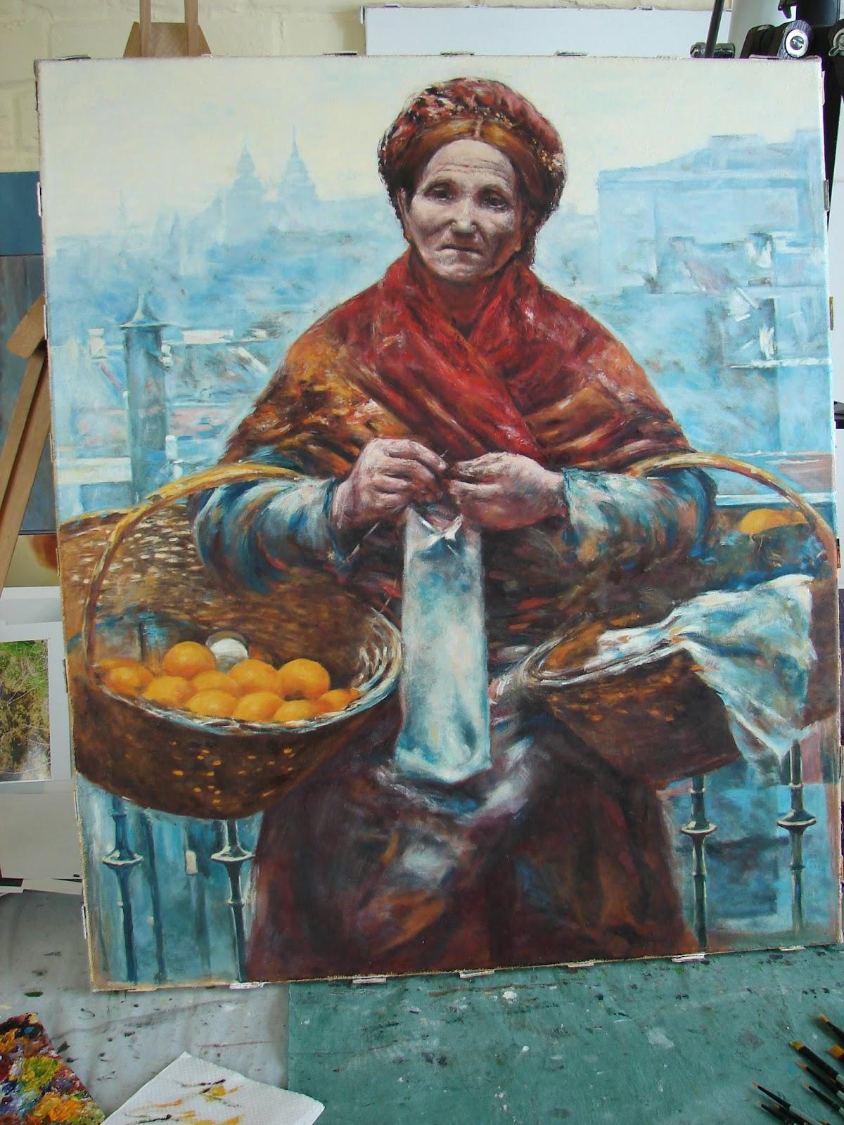 Żydówka z pomarańczami kopia