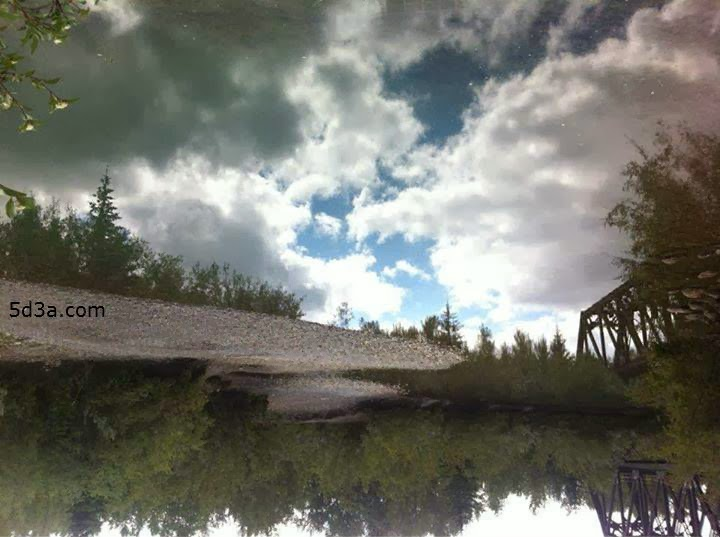هل لاحظت الغريب في صورة البحيرة - خداع بصري رائع