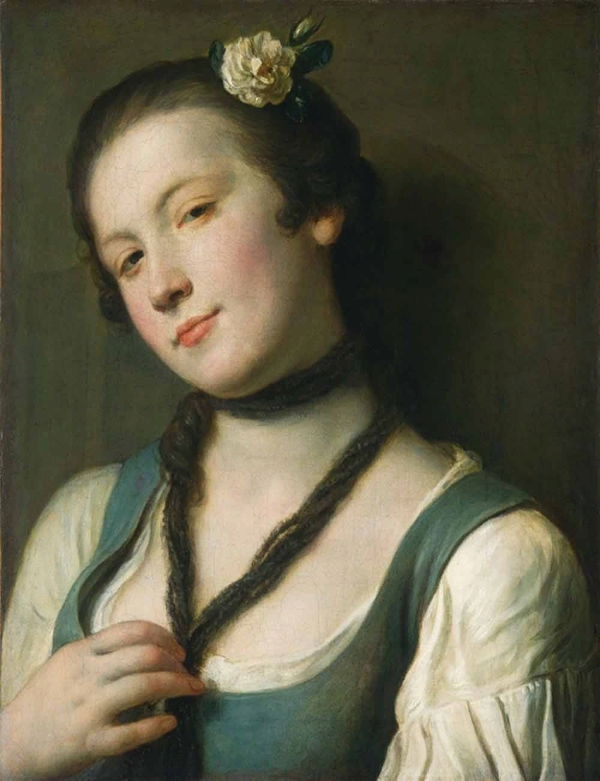 Pietro Antonio Rotari (1707-1762) Девушка с цветком в волосах www.womanpaint.blogspot.ru