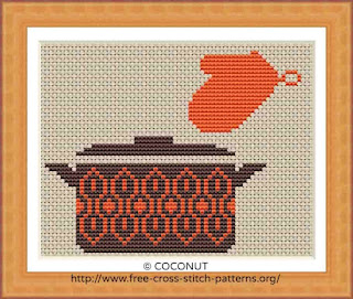 ANTIQUE POT, FREE AND EASY PRINTABLE CROSS STITCH PATTERN