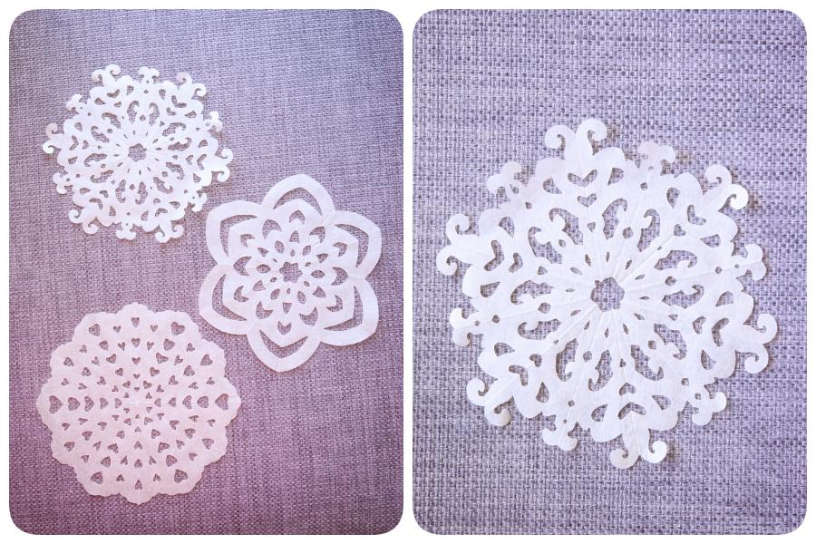 Tulosta talteen paperisten lumihiutaleiden kaavat :)