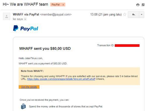 Cara Mudah Mendapatkan Dollar Gratis dengan WHAFF Versi Terbaru