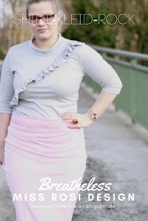 """Rüschen sind ein Trend der sich momentan nicht wegdiskutieren lässt. Ein tolles und einfach zu nähendes Rüschenshirt kannst du mit Hilfe des Schnittmusters """"Breathlessshirt"""" von Miss Rosi nähen. Damenkleidung nähen kann so einfach sein!"""