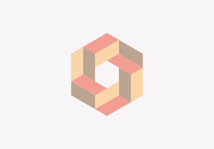 Isometric hexagon