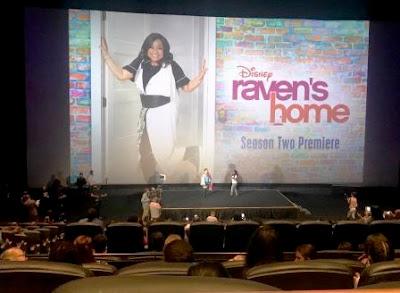 Raven Symone on stage at Montecasino Ill Grande with Raven's Home poster in background