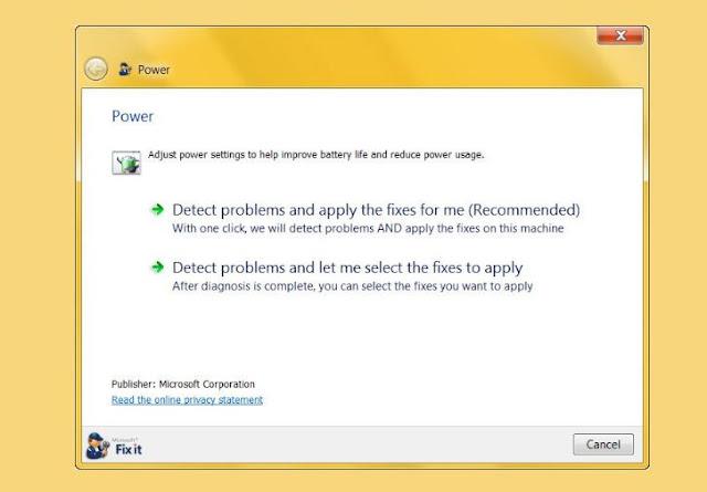 memperbaiki baterai laptop dengan Power Troubleshooter Memperbaiki Baterai Laptop dengan Power Troubleshooter
