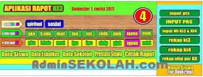 Download Aplikasi Raport SD Kelas 5 K13 Semester 1 Versi Terbaru 2018