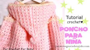 Poncho a crochet para niñas de 3 a 5 años / Tutorial