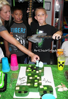 Dylans 10th Minecraft Birthday Party
