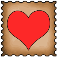 heart stamp icon