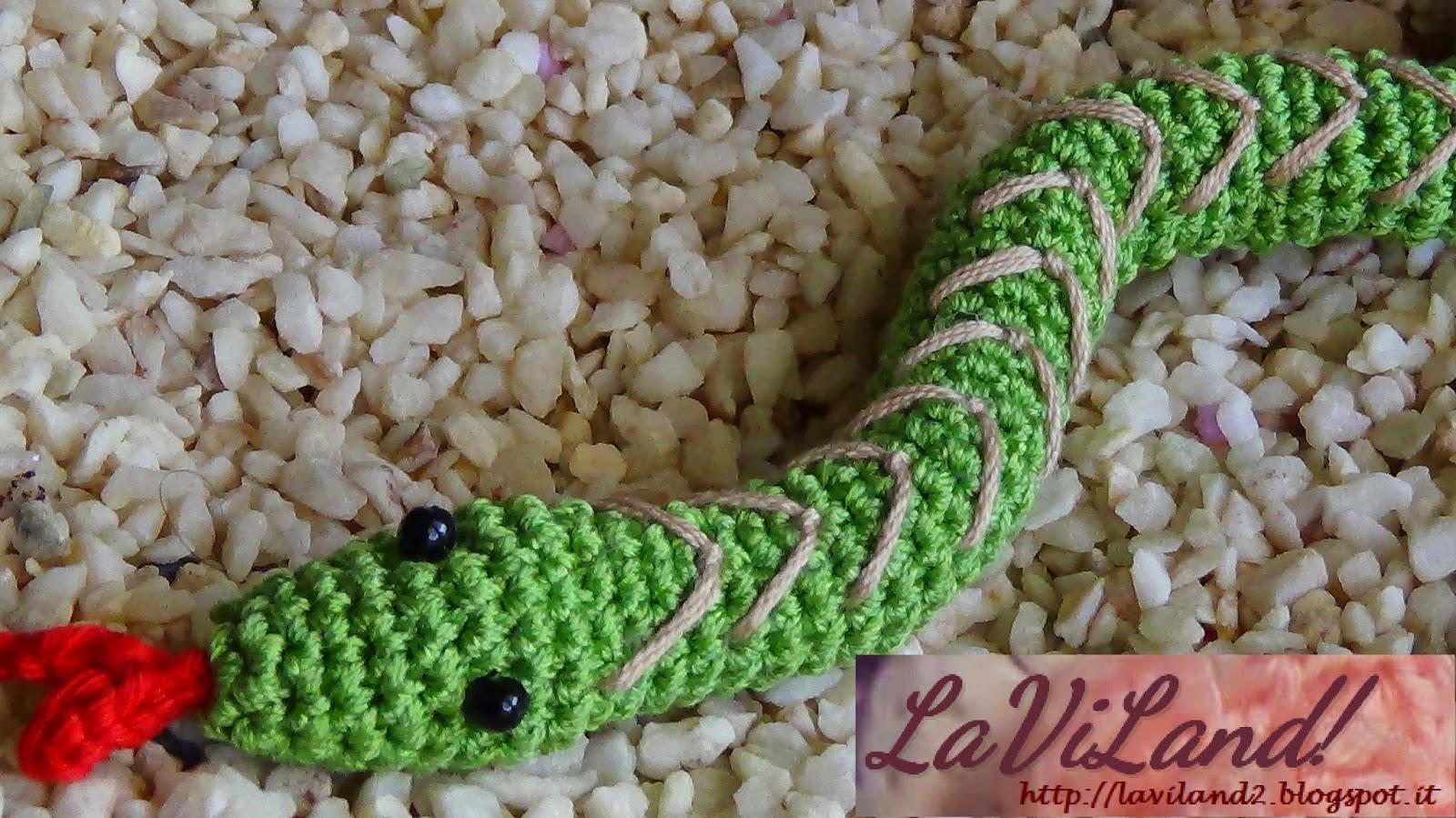 Paraspifferi Serpente Amigurumi a Uncinetto. Decorazione Animale ... | 899x1600