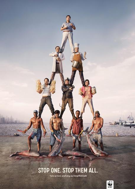 衝撃的でクリエイティブ、世界自然保護基金WWFの面白い広告 ヒエラルキー